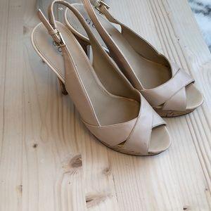 EUC Women's nude Guess heels